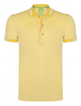 Pólo de Homem Hugo Boss Amarelo e Branco