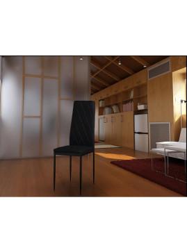 imagem de Cadeira de sala Crown em pele sintética Preto (pack 4)2