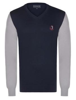 Pullover Sir Raymond Tailor Decelerate azul Marinho e Cinza