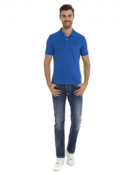 Polo manga curta  Tailor Sir Raymod Tailor Azul Sax