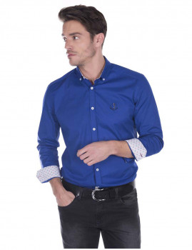 Camisa Sir Raymond Tailor Bent Grass azul Sax