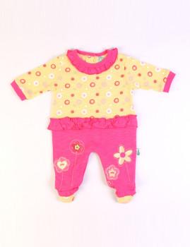 Babygrow Rosa e Amarelo