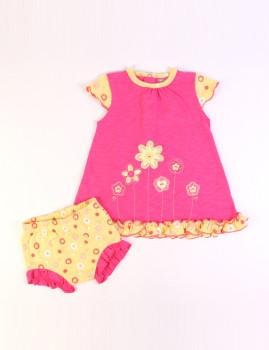Vestido e Cuecas Rosa e Amarelo