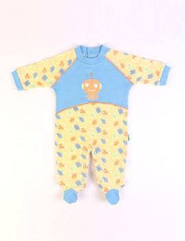 Babygrow Azul e Laranja