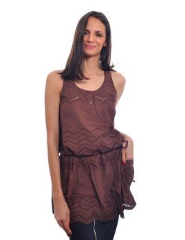 Vestido Tarifa Castanho