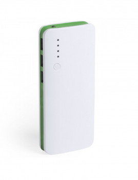 Powerbank 10000 mAh + 1 LED + 3 saídas USB - Verde
