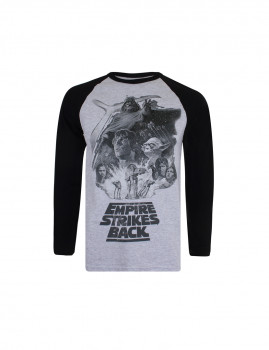Longsleeve Empire Strikes Cinza/Preto