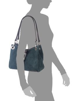 imagem de Mala de Ombro Anzio Azul Petroleo4