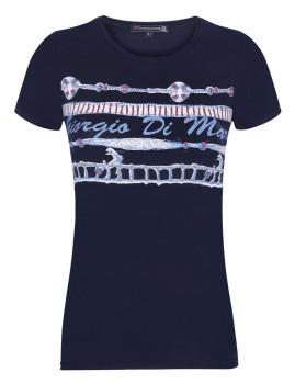 T-Shirt de Manga Curta Azul Navy Senhora Giorgio di Mare IV