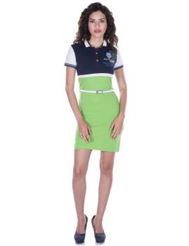 Vestido de Senhora Manga curta Giorgio di Mare Verde