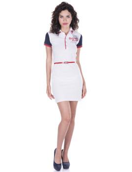Vestido de Senhora Manga curta Giorgio di Mare Branco