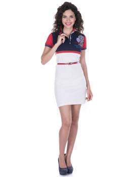 Vestido de Senhora Manga curta Giorgio di Mare Branco I