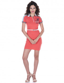 Vestido de Senhora Manga curta Giorgio di Mare Dusty Rose