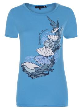 T-Shirt de Manga Curta Azul Senhora Giorgio di Mare