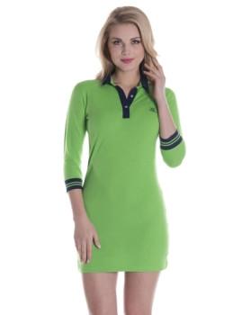 Vestido Giorgio Di Mare Manga 3/4 Verde