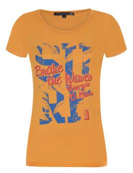 T-Shirt de Manga Curta Laranja Senhora Giorgio di Mare
