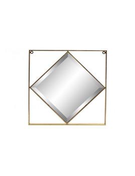 Espelho Metal Rombo 60X2,8X60 Mate Dourado