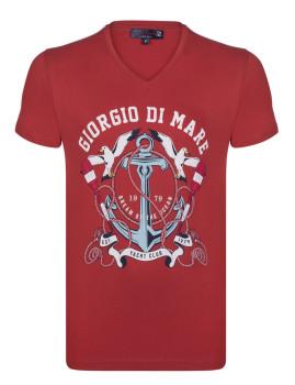 T-Shirt Giorgio Di Mare Vermelho