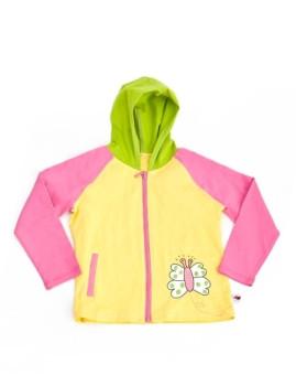 Sweater Com Fecho Mariposa De Criança Amarelo Menina