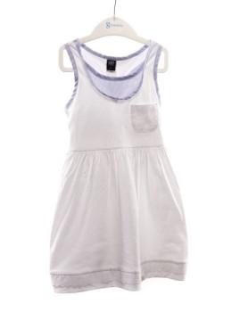 Vestido Girandola Branco com Bolso