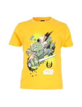 T-Shirt Yoda Light Sabre Amarelo