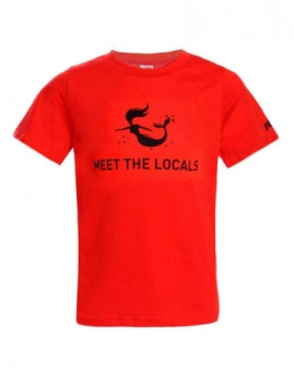 T-shirt Meet The Locals Vermelha