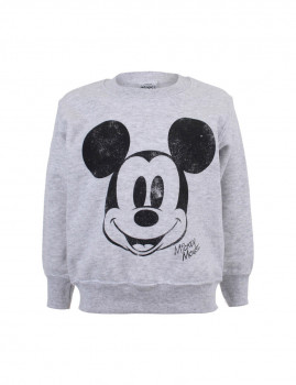 Sweatshirt Simple Mickey Face Menino Cinza