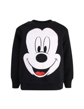 Sweatshirt Mickey Face Menino Preta