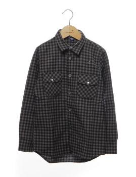 Camisa Quadriculado Preto Rapaz