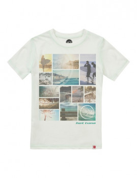 T-shirt Hot Tuna Surf Squares Branca