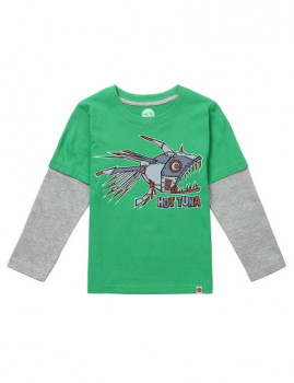 Long Sleeve Hot Tuna Cyber Fish Verde e Cinza Mesclada