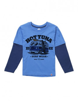 Long Sleeve Hot Tuna Road Trip Turquesa e Azul Navy