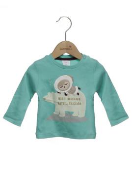T-Shirt Bebé  Girandola Verde Ref. 28