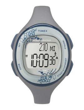 Timex Feminino T5K485 com Pormenor Floral no ecrã Branco