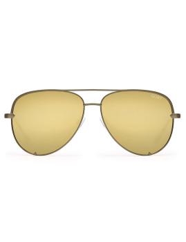 Óculos de Sol Quay High Key Verdes e Dourados Mirror