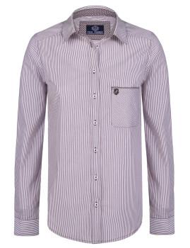 Camisa  Paul Parker Branco  Bordeaux