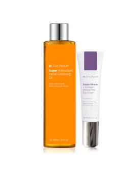 Veneno Cobra + Creme Olhos 15 & Super Antioxidante Facial Cleansing Oil