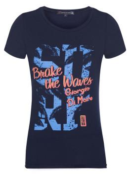 T-Shirt de Manga Curta Azul Navy Senhora Giorgio di Mare
