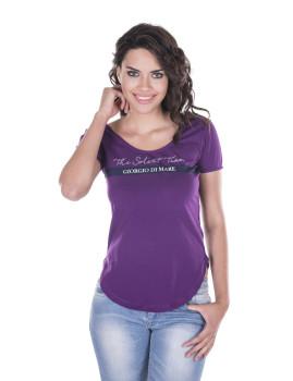 T-shirt de Senhora Giorgio di Mare Roxo