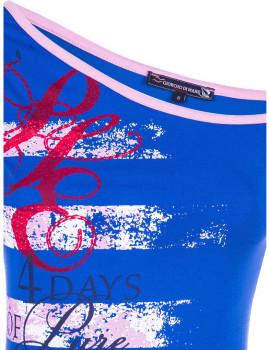T-shirt de Senhora Giorgio di Mare Azul Sax