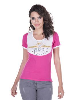 T-shirt de Senhora Giorgio di Mare Fúchsia