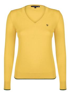 Pullover Senhora Giorgio di Mare Amarelo e Verde