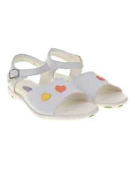 Sandálias c/Corações Brancas Campanilla