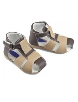 Sandálias c/Velcro Castanhas&Creme Campanilla