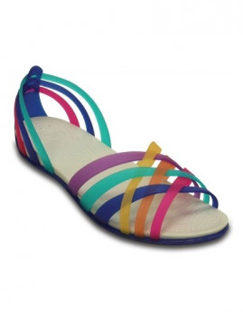 Sandália Crocs Huarache Flat Multicolor e Azul