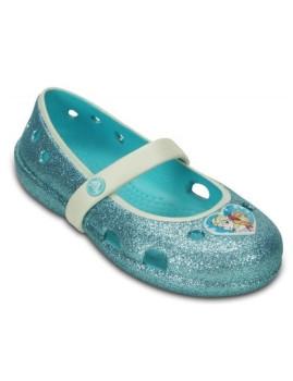 Sabrina Crocs Frozen Flat Azul Claro