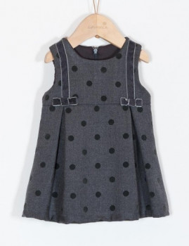 Vestido Girandola Mini Cinza