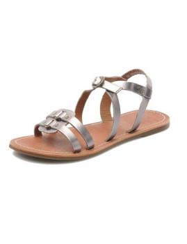 Sandálias de Velcro em Prateado Dixneuf Kickers