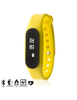 Pulseira  Inteligente Bluetooth Ak66S com Monitor Cardíaco