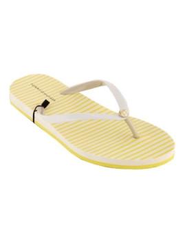 Chinelos Monica Amarelo e branco I